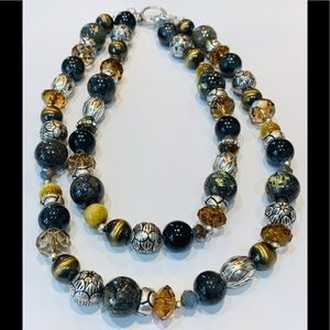 Juicy couture gorgeous! Glass beaded double strand